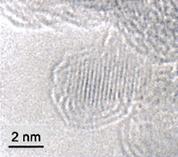 ナノダイヤモンドの電子顕微鏡写真